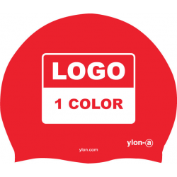 50 SWIMCAPS (Logo 1 color)