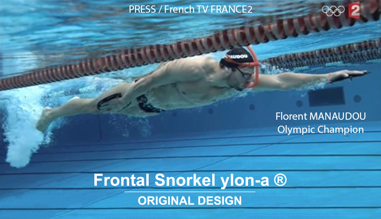 Florent MANAUDOU - FRA - Olympic Champion - screen picture from French TV FRANCE2